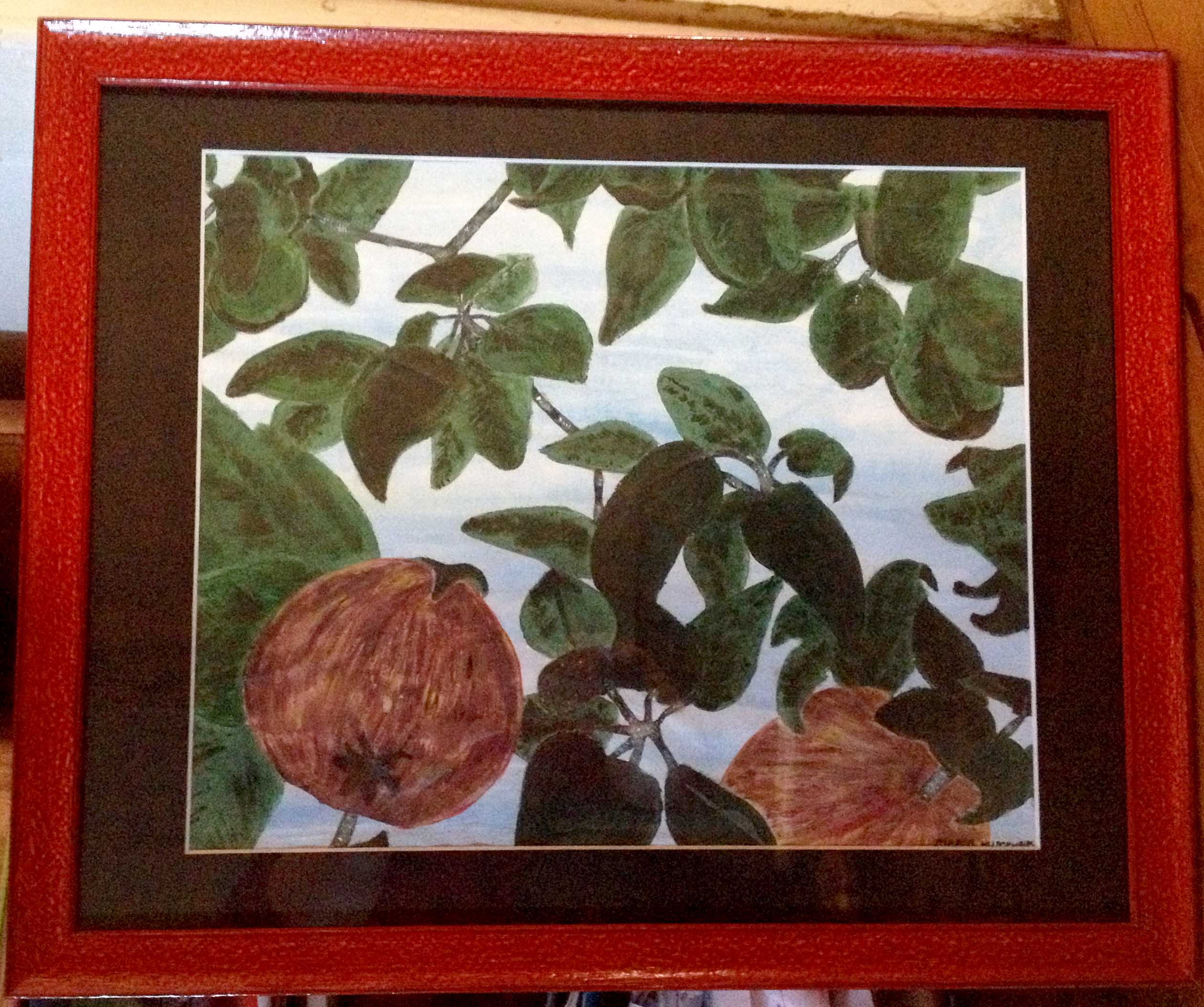 Appletree by Margo Humphries. Size 41×29. $40 FRAMED