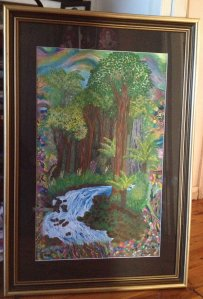 Margo Humphries Framed Today Rainforest - Vivid