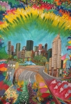 City - Vivid by Margo Humphries