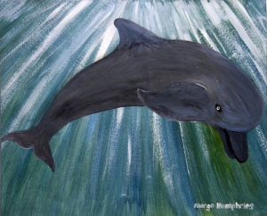 Dolphin by Margo Humphries   ORIGINAL SOLD