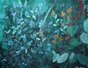 Flowers in garden by Margo Humphries