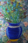 Flowers in vase by Margo Humphries