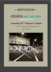 cstudios exhibition opening invitation