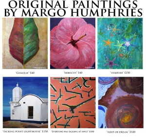 Margo Humphries Art Bazaar paintings for sale August 2014