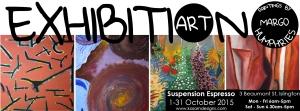 Margo Humphries Exhibition Suspension Espresso Octboer 2015 FB cover
