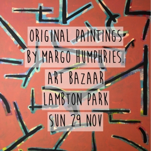 Margo Humphries Art Bazaar Lambton Park 29.11.15 everyone talking at once