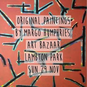 Margo Humphries Art Bazaar Lambton Park 29.11.15 everyone talking at once
