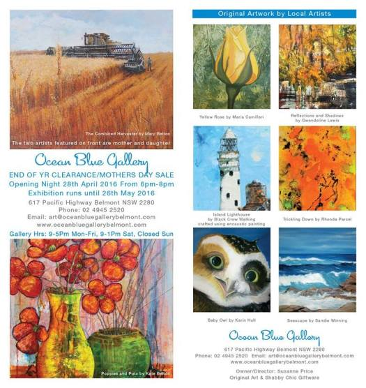 Ocean Blue Gallery mothers day opening exhibition