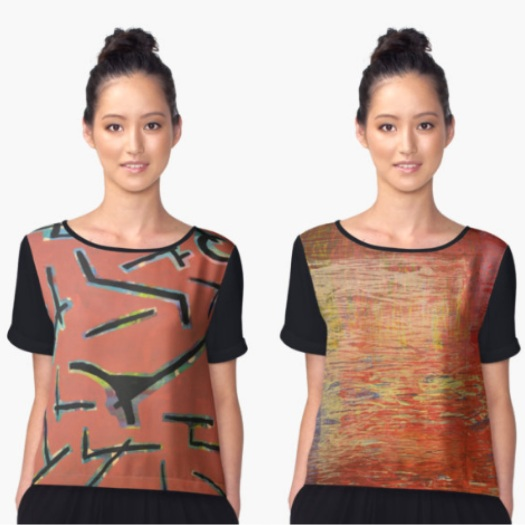 margo humphries redbubble womens chiffon tops 20 per cent off