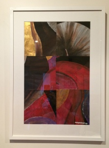 """Stark 1"" by Margo Humphries - Size 52x74cm. Framed $210. Acrylic on paper"
