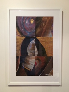 """Stark 2"" by Margo Humphries - Size 52x74cm. Framed $210. Acrylic on paper"