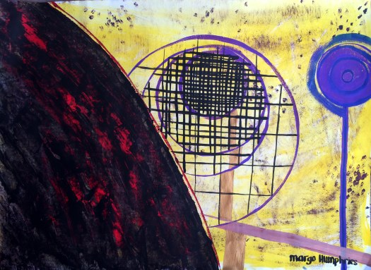 """The Droste Effect"" by Margo Humphries Original FOR SALE $30 - acrylic & ink on paper 40x29cm"