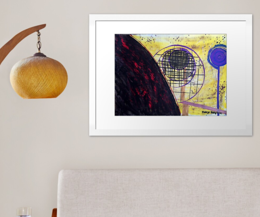 """🖌️🎨Original by Margo Humphries 🖼️""""The Droste Effect"""", 56x45cm, Framed, A$180.00 https://kasarndesigns.com/artwork-for-sale 🛒Prints available on Redbubble 🔆✨#margohumphriesart Disclaimer: Redbubble image shown, original not to scale"""