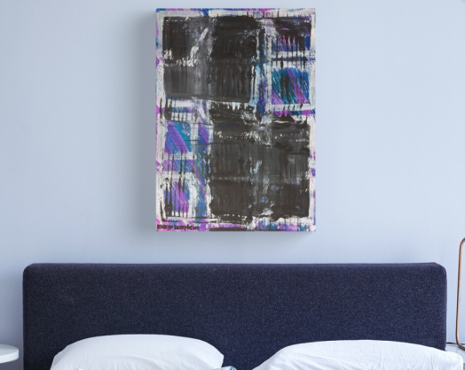 """🖌️🎨Original by Margo Humphries 🖼️""""The Grid"""", 56x40cm, unframed, A$50.00 https://kasarndesigns.com/artwork-for-sale 🛒Prints available on Redbubble 🔆✨#margohumphriesart Disclaimer: Redbubble image shown, original not to scale"""